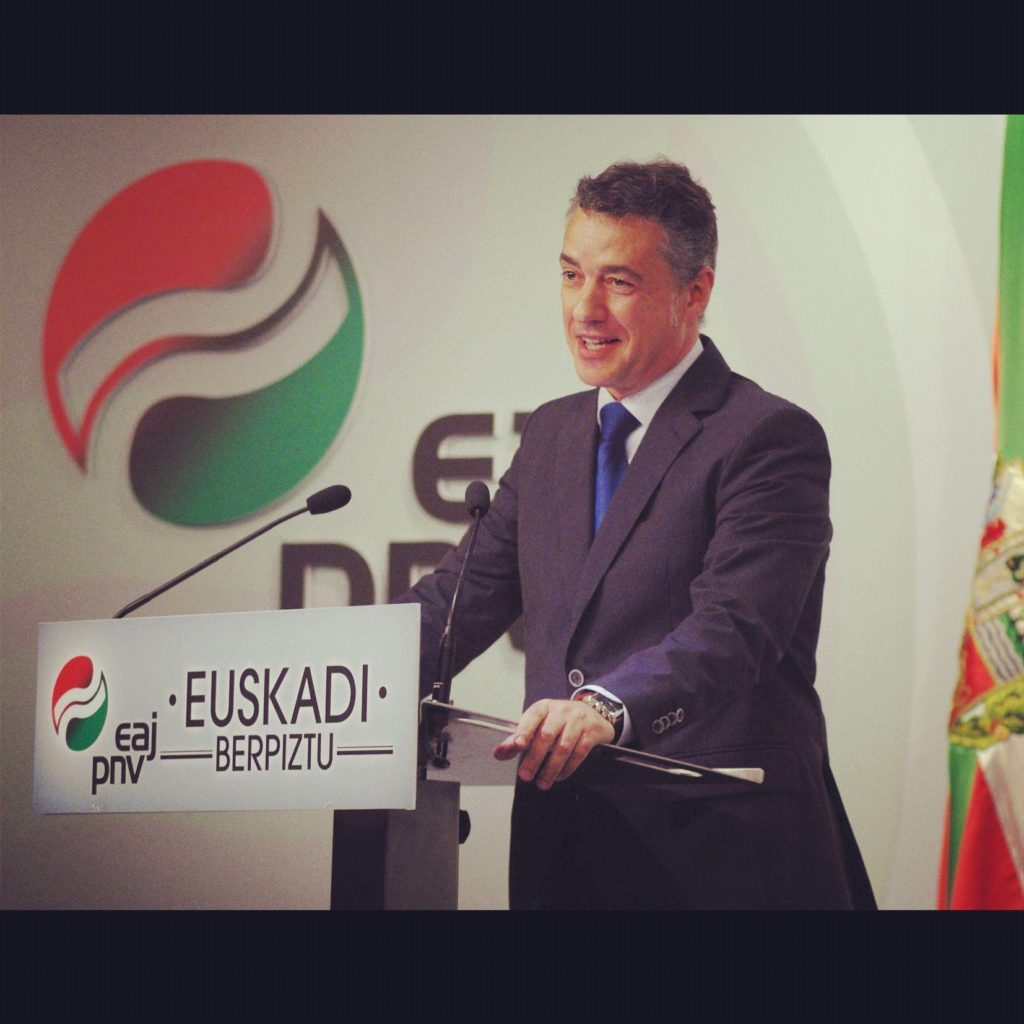 Basque regional president Iñigo Urkullu may need the votes of local conservatives to remain in power after Sept. 25 regional elections. (Facebook)